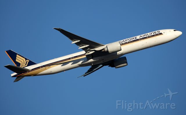 BOEING 777-300ER (9V-SWE) - Climbing from Rwy 34L