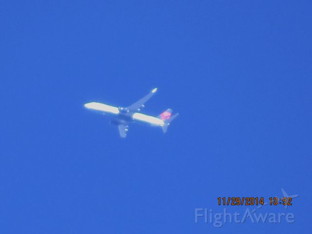 Boeing 737-800 (N3772H) - Delta Airlines flight 2282 from JFK to PHX over Southeastern Kansas at 34,000 feet.