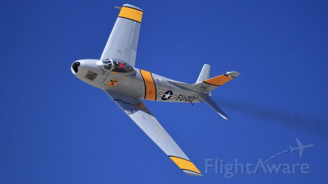 North American F-86 Sabre (N186AM) - 1952 NORTH AMERICAN/SHARPE F86F, FU-012/52-5012<br /><br />Constructed (#191-708) as a F-86F-30-NA by North American at Inglewood, California, USA.<br />GE J47 SERIES (Turbo-jet)<br /><br />Owned and Operated by:<br />PLANES OF FAME AIR MUSEUM<br />CHINO , CA, USA<br /><br />Airshow Demonstration<br />March ARB 5-01-2010