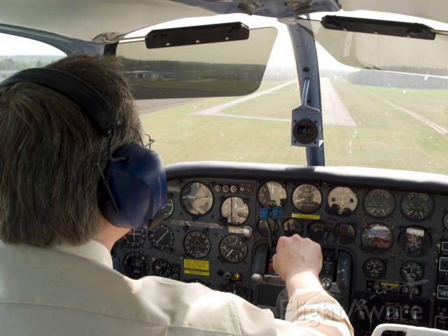 Beechcraft Travel Air (D-GDAU) - 1959 Beech Travel Air, landing at Hartenholm (EDHM) Germany 540 meter available runway, cross wind landing