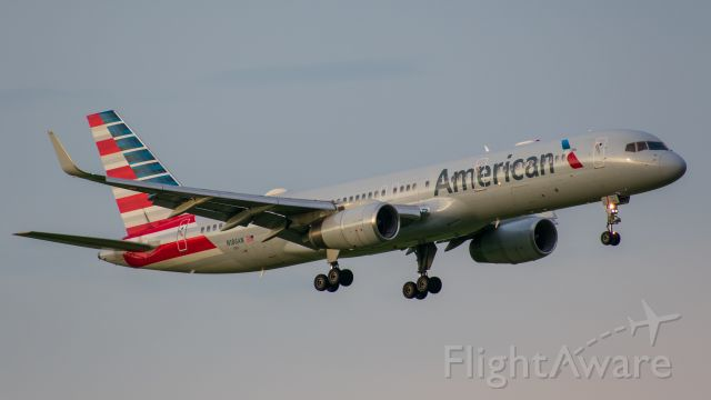 Boeing 757-200 (N186AN) - Taken May 3 at Founders Plaza at Dallas Fort Worth International Airport around sunset.