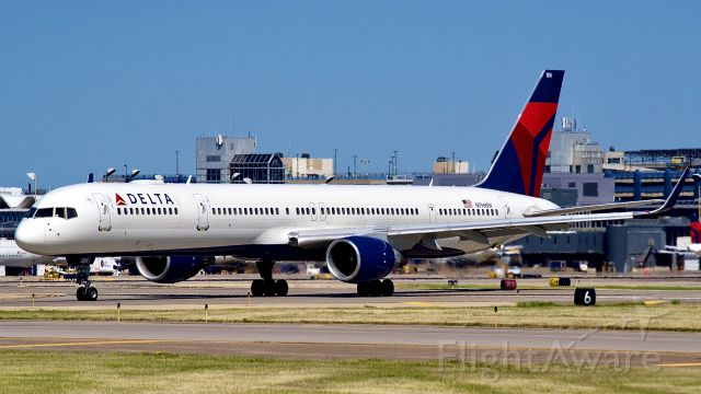BOEING 757-300 (N596NW) - A Delta 757 goes to another delta hub which would be Atlanta Georgia.
