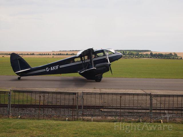 De Havilland Dragon Rapide (G-AKIF) - Heading out for a tour flight. De Havilland DH 89 Dominie