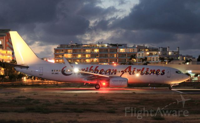 Boeing 737-800 (9Y-JMC) - Caribbean Airlines about to depart St Maarten for Trinidad.