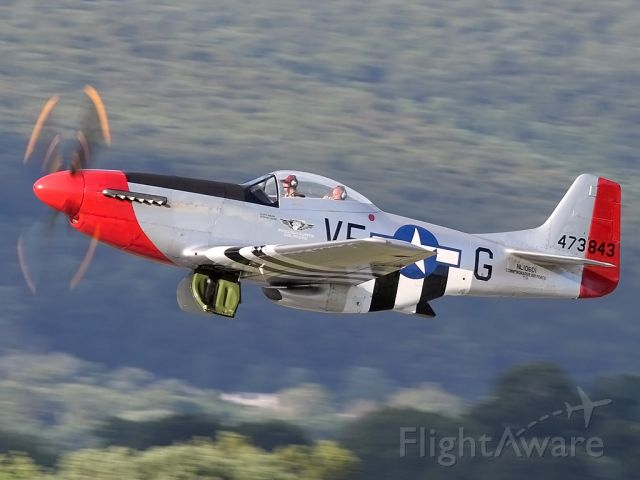 North American P-51 Mustang (SAI10601) - Taking off from Reading, PA