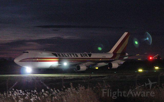 Boeing 747-400 (N706CK) - kalitta air b747-4b5f n706ck arriving in shannon tonight 5/4/19.