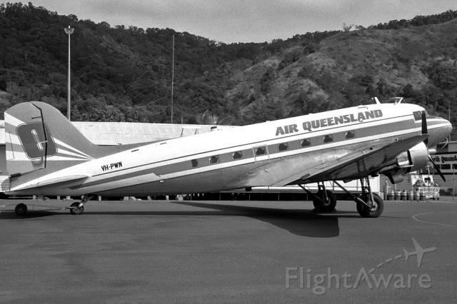 VH-PWN — - AIR QUEENSLAND - DOUGLAS DC-3(C) - REG VH-PWN (CN 9286) - CAIRNS QLD. AUSTRALIA - YBCS (22/6/1986)