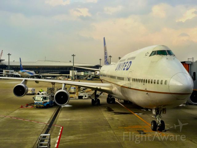 Boeing 747-200 — - The windows at Narita let you get practically nose-to-nose with the parked planes