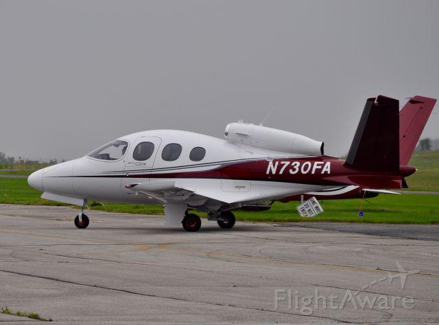 Cirrus Vision SF50 (N730FA) - Cirrus Jet arriving into GAI