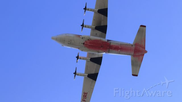"""Lockheed C-130 Hercules (N130FF) - Tanker 131 Undercarriage (planform view), this aircraft works hard and it shows! """"Apple Fire"""" (8-6-2020)"""