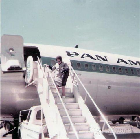Boeing 707-100 — - Deplane KMIA circa 1960