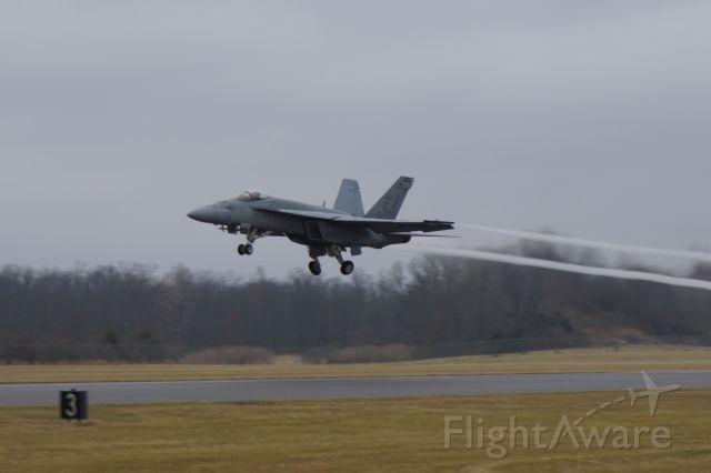 McDonnell Douglas FA-18 Hornet — - F/A-18 on departure runway 20