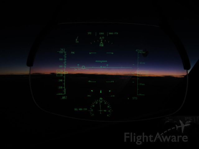 Boeing 787-8 (N965AM) - sunset