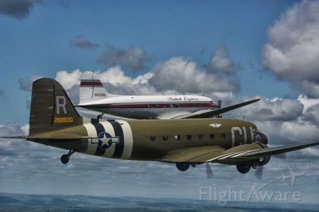 Douglas DC-3 (N45366) - Flying over Connecticut, May 2019