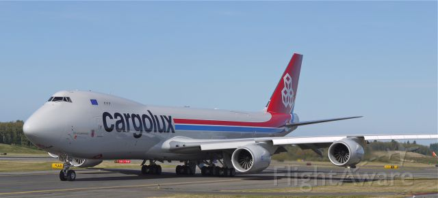 BOEING 747-8 (LX-VCD) - CLX789 - B747-8F on the taxiway prior to departing on it