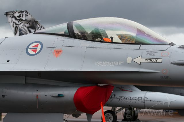 Lockheed F-16 Fighting Falcon — - On static display at RIAT 2012.