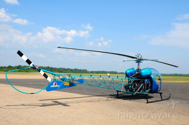 "N3096G — - The "" Blue Thunder"". A 1965 Bell 47G Turbo."