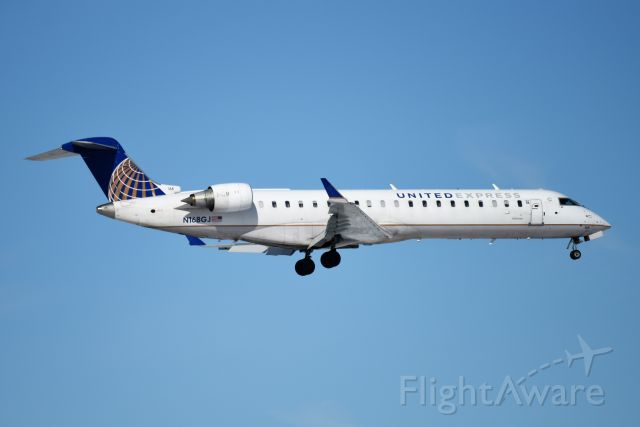 Canadair Regional Jet CRJ-700 (N168GJ) - Landing 5-R at KIND 01-21-19