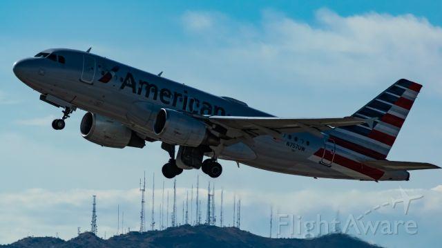 Airbus A319 (N757UW) - Departing RWY 7L