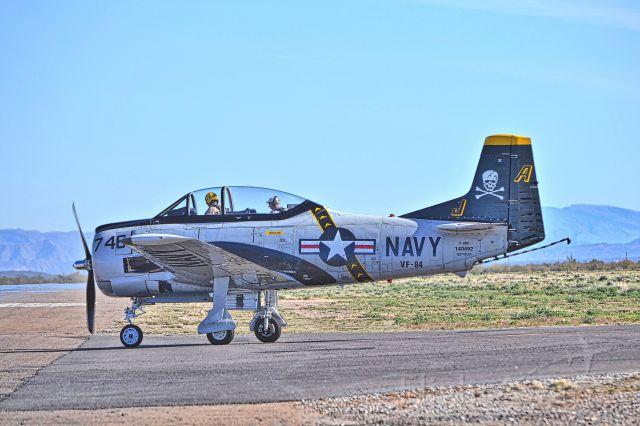 North American Trojan (N746SH) - Photographed taking runway 5 at Coolidge Arizona