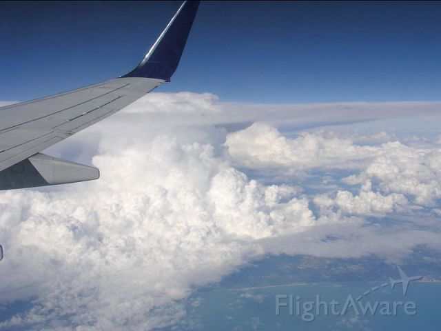 Boeing 737-700 (N3737C) - Delta 356 Liberia airport (Costa Rica) to Atlanta over the west coast of Florida (near Tampa).