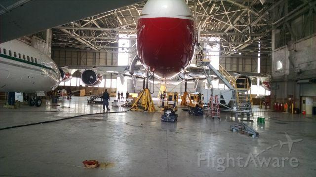 Boeing 747-400 (N744ST) - Gear swing.