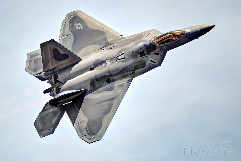 Lockheed F-22 Raptor — - An F-22 Raptor makes a pass at Tyndall AFB.