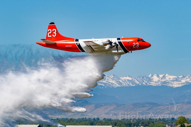 Lockheed P-3 Orion (N923AU) - Wildfire Air Tanker Demonstration and Display at KFNL.