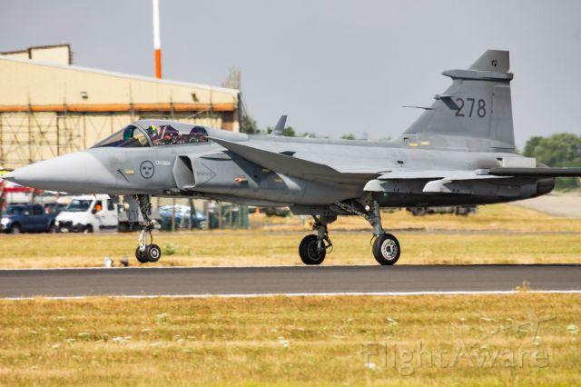 Saab JAS39 Gripen — - Sweedish Airforce JAS 39C Gripen Taking to the RIAT skies
