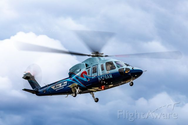 Sikorsky S-76 (N176AM) - AeroMed One returning to it's base during a marginal day