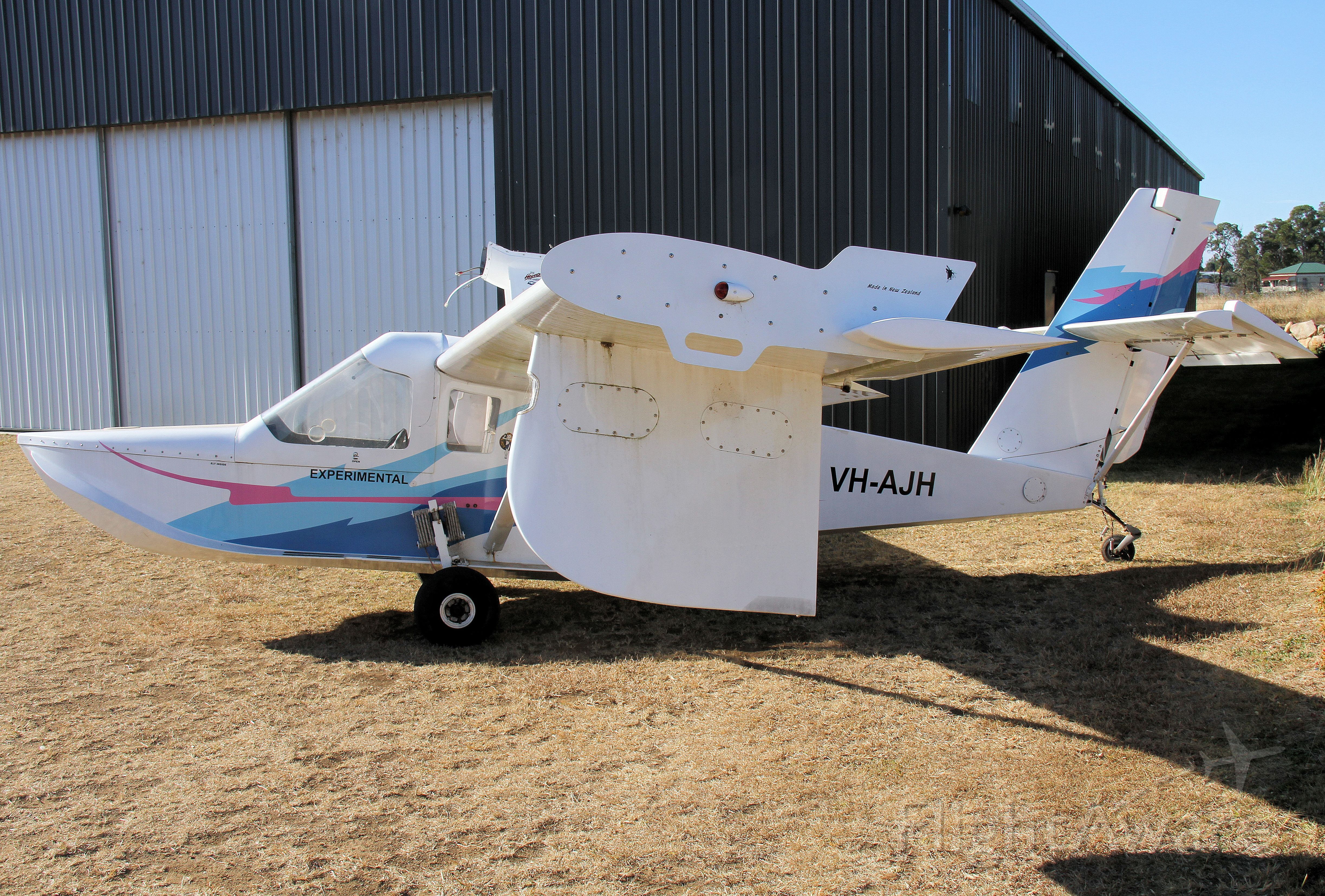 VH-AJH — - Unusual Adventure Air Adventurer 333 waiting for rebuilt engine at Boonah Queensland. Imported from New Zealand in 2006.