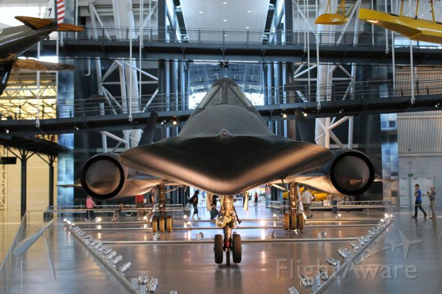 — — - Lockheed SR-71A Blackbird. Taken at the National Air and Space Museum.
