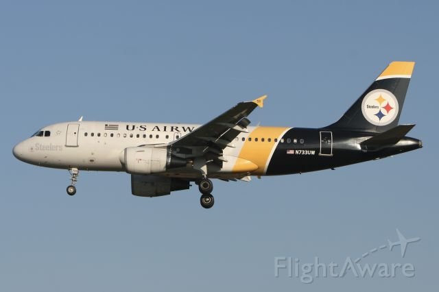 Airbus A319 (N733UW) - November 29, 2010 - arrived at Philadelphia Int'l Airport