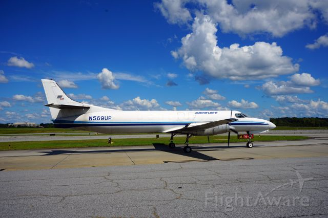 Gulfstream Aerospace Gulfstream IV (N569UP) - This aircraft comes in quite often at Peachtree-Dekalb Airport.  It is in a freighter configuration and usually does not stay more than an hour before it departs.  This photo depicts a departure.