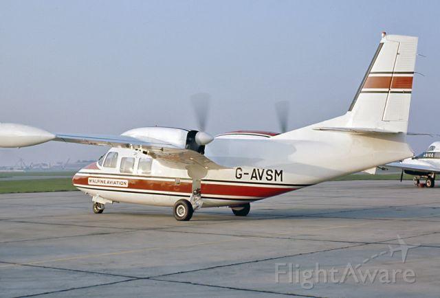 G-AVSM — - PIAGGIO P-166B - REG G-AVSM (CN 416) - LONDON INTERNATIONAL AIRPORT HEATHROW UK. ENGLAND - EGLL (11/8/1968)