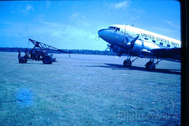 Douglas DC-3 (N50825) - VIP US Navy DC3 based in Canberra at Flinders Island, circa 1964