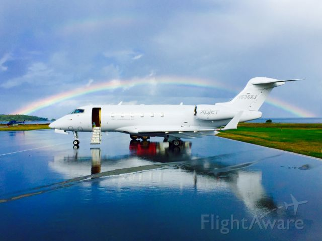 Bombardier Challenger 300 (N536XJ) - Perfect timing 9/29/2014. Port Hardy Canada