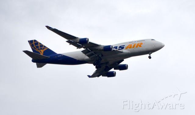 Boeing 747-400 (N429MC) - On final to MEM from TJSJ