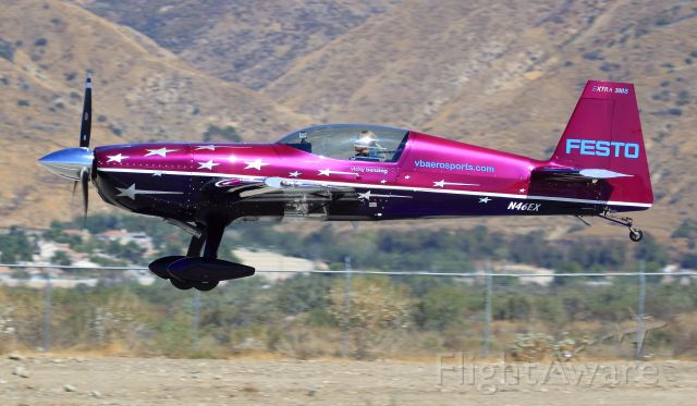 N46EX — - Extra 300s, as Vicky Benzing takes flight, Redlands, Ca., Airshow 10-9-2010