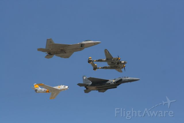 — — - F22, F15, F86 and P38
