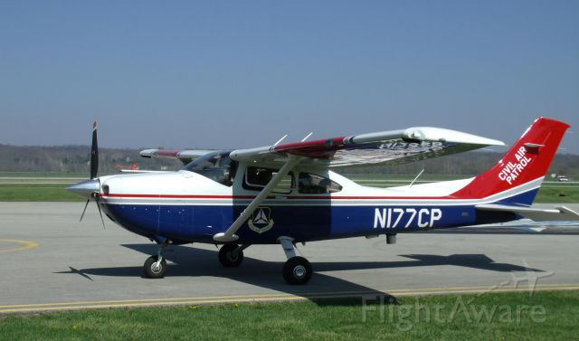 Cessna Skylane (N177CP) - Civil Air Patrol mission about to launch from Middletown Airport OH