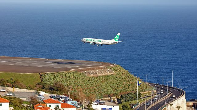 Boeing 737-800 (PH-HZX) - From Gaula hill.