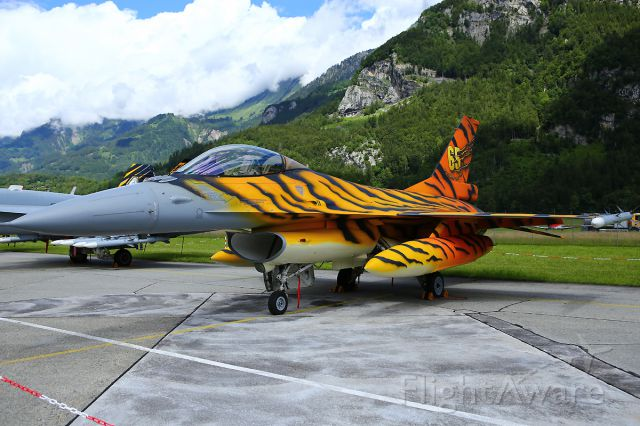 Lockheed F-16 Fighting Falcon — - 75-Years of Meiringen Airbase/CH<br />Belgian Airforce<br />F-16 AM FA-77 31 Sqn (Nato Tiger Meet)