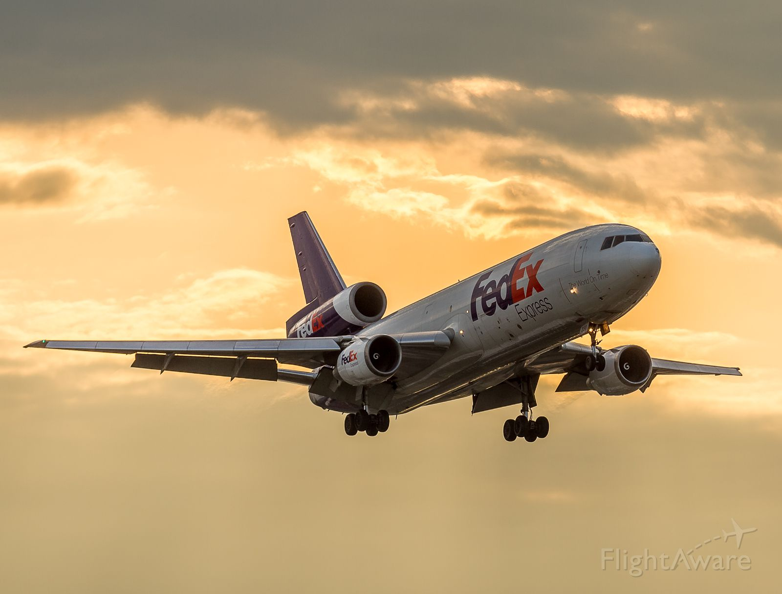 McDonnell Douglas DC-10 (N358FE) - Up early to catch FX148 arriving from Memphis and a glorious sunrise!