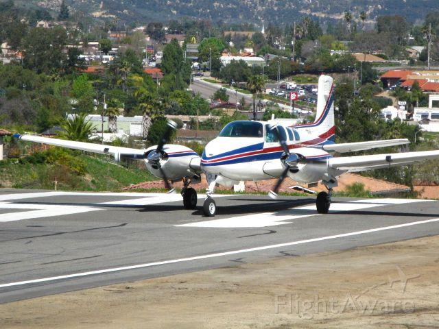 Beechcraft Twin Bonanza (N360KR) - Twin Bonanza departing Runway 18 at Fallbrook Airpark, CA  (l18)
