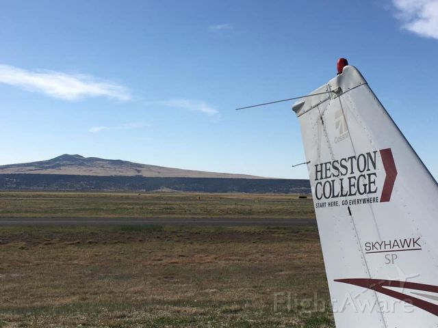 Cessna Skyhawk (N205HC) - Hesston College Skyhawk SP sitting at KRTN over the weekend.