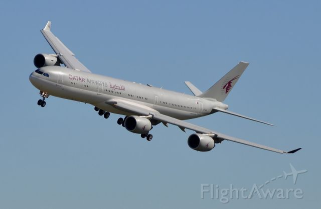 Airbus A340-500 (A7-HHH) - Qatar Amiri Flight  Landing 25 LBG