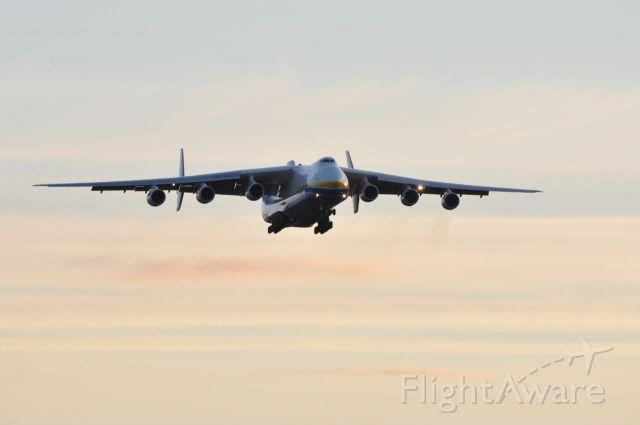 Antonov Antheus (ADB1744) - Registration UR82060 landing runway 26 from Bangor to Keflavik