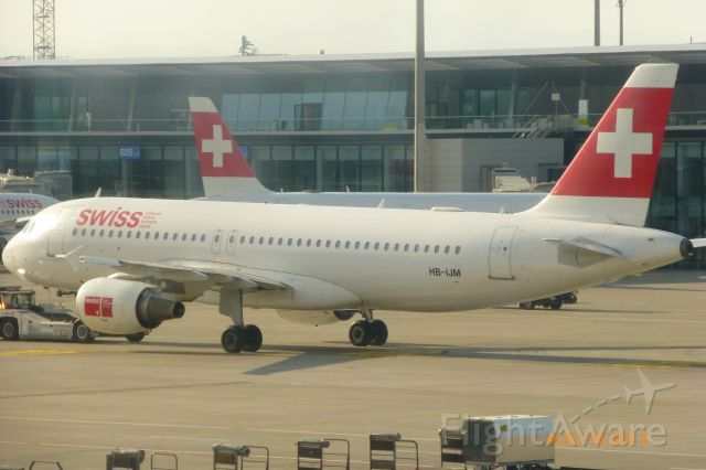 Airbus A320 (HB-IJM) - Del to Swissair in 1996<br />Del to Swiss in 2002