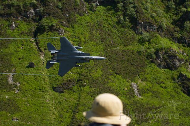 McDonnell Douglas F-15 Eagle (BREW11) - BREW11 Low Level Throgh the Mach Loop (cad West) North Wales